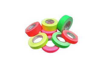 Green 24Mm X 45Mt Neon Cloth Tape Fluoro Gaffer
