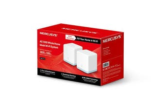 TPLink Mercusys Halo S12 2Pack AC1200 Whole Home Mesh WiFi System with HighSpeed