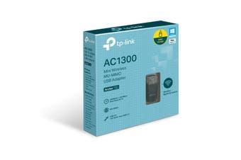 TPLink AC1300 Mini Wireless MU-MIMO USB Adapter DualBand Wireless Ultimate Speed