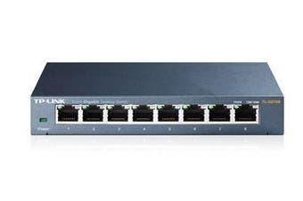 TP-Link TL-SG108 8-Port Gigabit Desktop Switch Steel Case Fanless IGMP Snooping