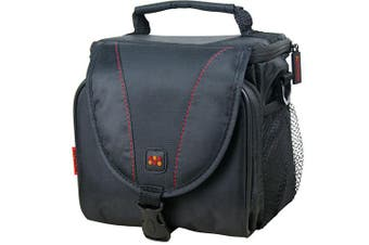 Promate Compact Camera case with Front pocket and lanyard Strap Large
