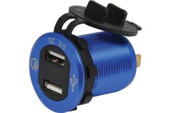 QC3.0 4.2A Dual USB Charging Socket