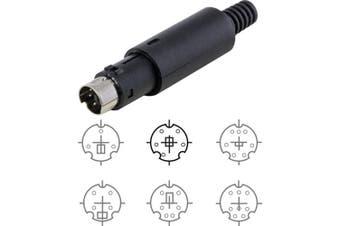 5 Pin Mini DIN Plug
