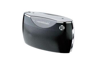 PYE Black Portable Radio Speaker AM-FM 3.5mm Aux in Battery Powered AC DC