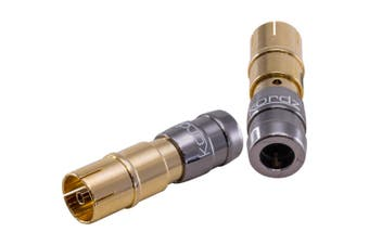 Gold Compression Pal Female Connector Suits 6Mm Od Coax