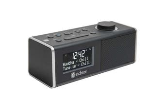 Digital DAB+ Alarm Clock Radio Black Bluetooth/ NFC Richter