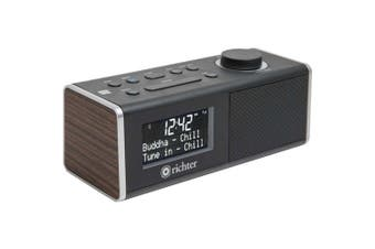 Digital DAB+ Alarm Clock Radio Walnut Bluetooth/ NFC Richter