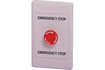 Wallplate Fitted With Push/Twist Emergency Stop Switch