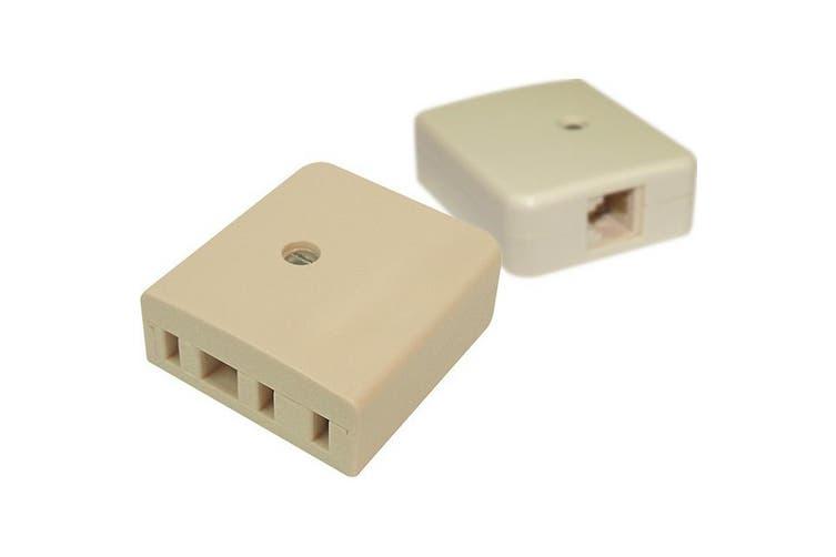 Modular RJ12 Socket To 610 Socket Phone Adaptor Tel5117