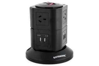 Safemore 2 Level Power Stacker Power Board in Black