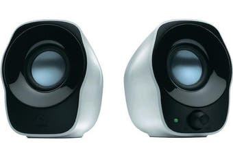 Logitech Z120 USB Powered Stereo Speakers 3.5mm Audio Compact Volume Control