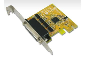 Sunix 4 Port PCIE Serial Card RS232 Plug N Play  Full Height