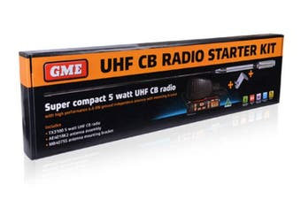 GME TX3100VP 5 Watt 477MHz 80 Channel UHF Super Compact Radio Starter Kit
