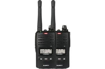 GME TX6160TP 5 Watt IP67 UHF CB Handheld Radio  Twin Pack Rugged design IP67 ingress protection