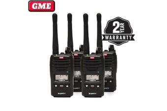 GME TX677QP 2 watt UHF CB handheld radio quad pack