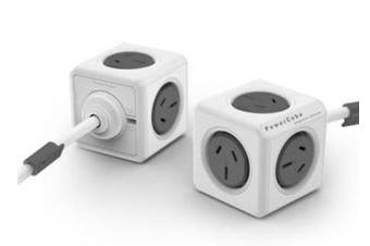 ALLOCACOC POWERCUBE Extended 5 Outlets 3M Grey