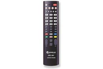 Sansai 5-In-1 Universal TV Remote Comfortable handhold design Black