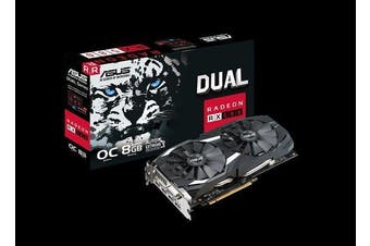 ASUS AMD Radeon DDR5 PCIe Video Card 8K 2-DP 2-HDMI DVI-D 1380-1360 MHz
