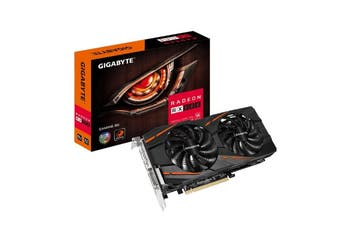 Gigabyte AMD Radeon RX 580 V2.0 Gaming 8GB DDR5 PCIe Graphic Card 90mm Blade Fan