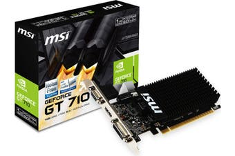 MSI nVidia Geforce GT 710 1GB LP Low Profile VGA Card GDDR3 HDMI DVI PCIE2.0