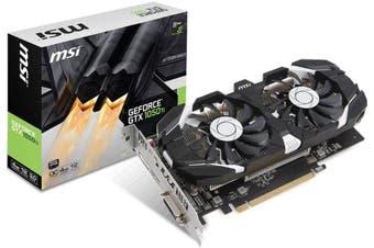 MSI nVidia Geforce GTX 1050 TI 4GT OC V1 4GB VGA Card GDDR5 DP HDMI DVI PCIE3.0