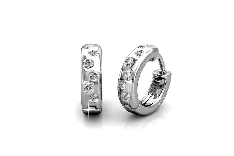 Encrusted Hoop Earrings Embellished with Crystals from Swarovski