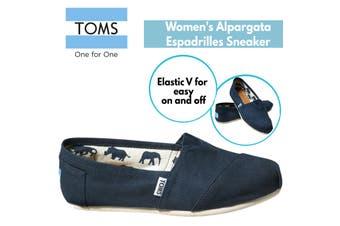 TOMS Women's Alpargata Classic Canvas Sneaker Shoes Espadrilles - Navy