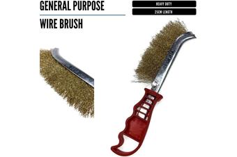 25cm WIRE BRUSH General Purpose Brassed Steel Heavy Duty