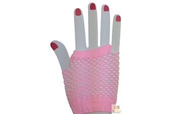 FISHNET GLOVES Fingerless Wrist Length 70s 80s Women's Costume Party Dance New