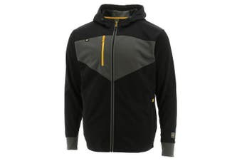 CAT Men's Triton Full Zip Hoodie Jacket Zip Hoody Workwear Warm Winter - Black