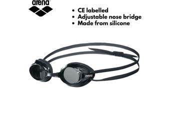 ARENA Drive 3 Goggles Swim Swimming Anti-Fog for Adults Training - Black/Smoke
