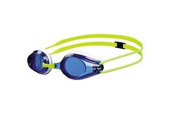 Arena Junior Okulary Tracks Swimming Goggles Swim Glasses - Blue/Yellow