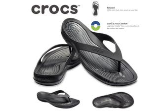 Crocs Women's Swiftwater Flip Flops Thongs - Black/Black