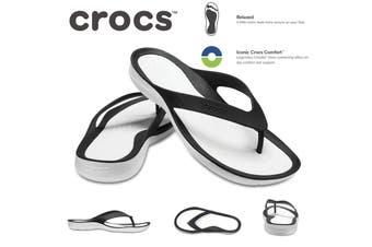 Crocs Women's Swiftwater Flip Flops Thongs - Black/White