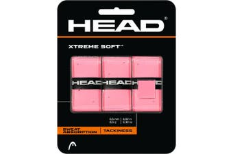 Pack of 3 HEAD XtremeSoft Overgrip Tennis Squash Over Grip Super Tacky Anti-Slip