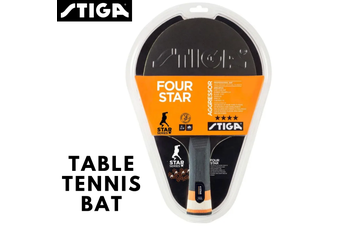 STIGA Table Tennis Bat Ping Pong Racket Racquet Paddle Game - Agressor 4 Star
