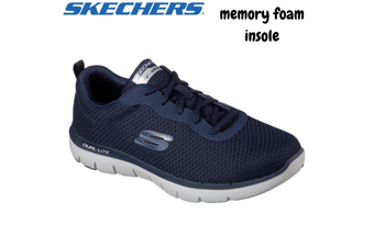 Skechers Men's Flex Advantage 2.0 Memory Foam Shoes Sneakers Runners Trainers - Navy