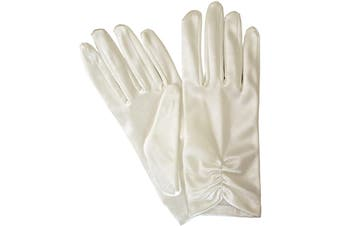 Dents Women's Satin Ruched Wrist Length Evening Gloves Formal Ball Prom
