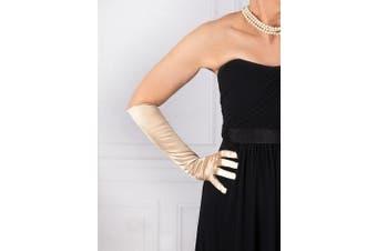 Dents Women's Long Satin Finish Elbow Length Evening Gloves Formal Ball Prom Deb