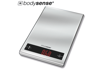BodySense 5kg Stainless Steel Kitchen Scale Electronic Digital Weight Balance