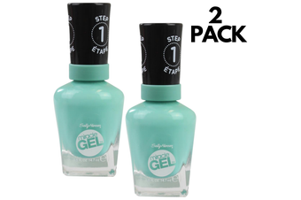 2pcs Sally Hansen 14.7ml Miracle Gel Step 1 Nail Polish - 754 Prince Char Mint