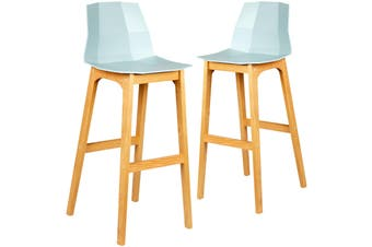 Set of 2 Hayley Low Back Modern Kitchen Bar Stool Chair Dining Barstools