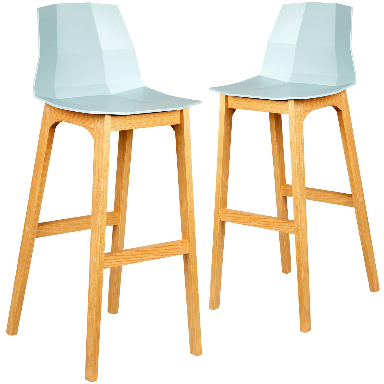 Image of: Set Of 2 Hayley Low Back Modern Kitchen Bar Stool Chair Dining Barstools Matt Blatt