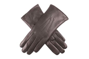 DENTS Ladies Premium Kangaroo Leather Cashmere Lined Gloves Women's - Chocolate