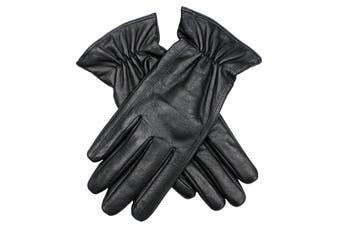 DENTS Women's Kangaroo Leather Gloves - Black