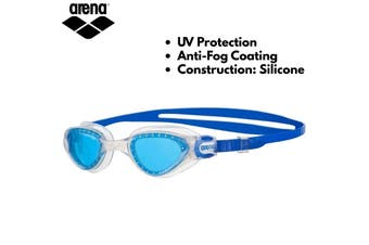 Arena Adult Goggles Swim Cruiser Soft Wide Vision Swimming Goggle - Blue
