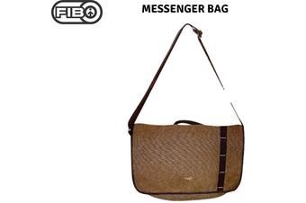 FIB Canvas Messenger Bag Laptop Tablet Uni Shoulder Travel - Khaki