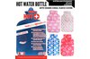 2L HOT WATER BOTTLE with Coral Fleece Cover Winter Warm Natural Rubber Bag - ACCC Approved