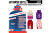 2L HOT WATER BOTTLE with Knitted Cover Winter Warm Natural Rubber Bag - ACCC Approved