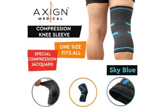 AXIGN Medical Compression Knee Sleeve Support Brace Strap Patella Protector